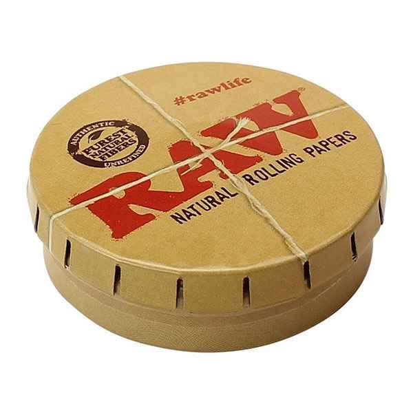 Raw Round Metal Storage Tin Accessories Evertree