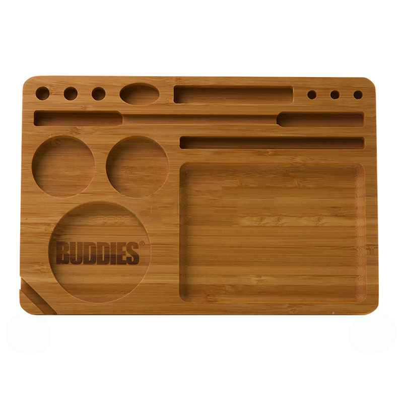 Buddies Bamboo Rolling Tray Accessories Evertree
