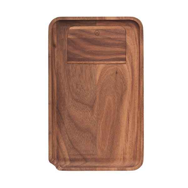 Marley Natural Walnut Rolling Tray Accessories Evertree