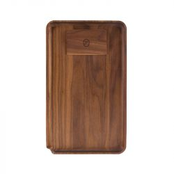 Marley Natural Walnut Rolling Tray, Large Accessories Evertree